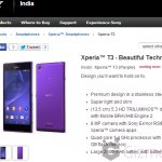 Xperia T3 launched in India for Rs 27990, available from 28 July