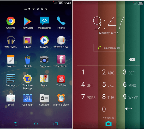 Xperia Theme Colormix