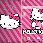 Install Xperia Theme Pink Cat, Galaxy Polygon Theme for non rooted users
