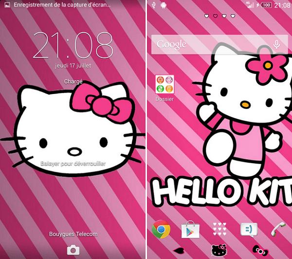 Xperia Theme Pink Cat