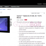 16 GB 4G Xperia Z2 Tablet launched in India for Rs 49990