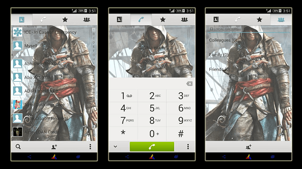 Download Install Xperia Assassin's Creed 4 theme