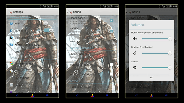 Download Install Xperia Assassin's Creed 4 theme apk