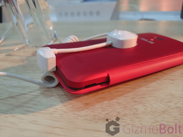 Red Asus Zenfone 5 flip cover