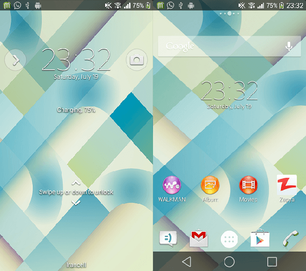 Xperia Android L6 Theme preview