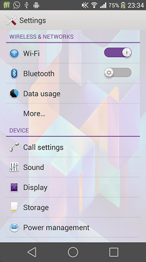 Xperia Android L7 Theme