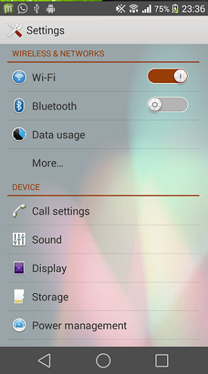 Xperia Android L9 Theme
