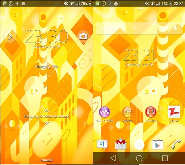 Xperia Android L5 Theme previe