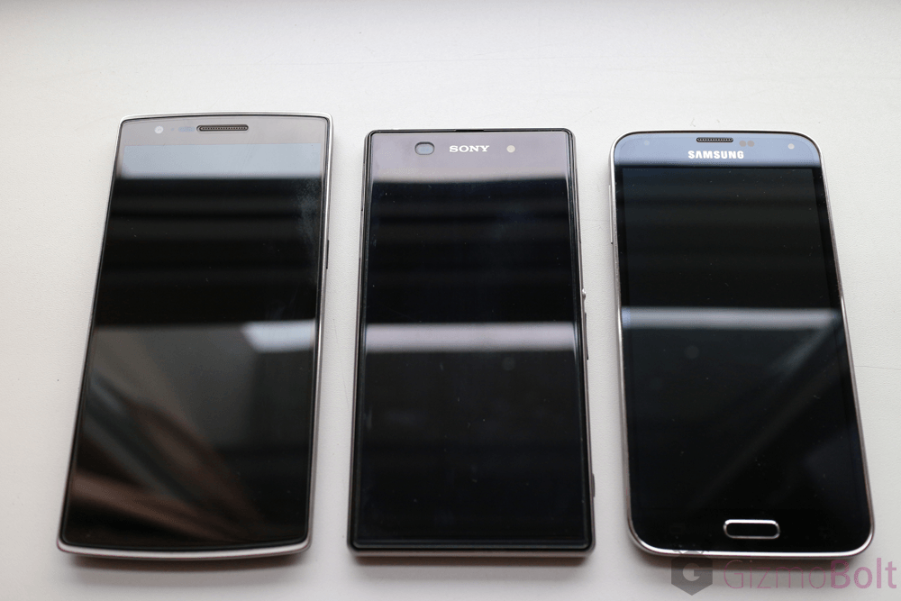 Galaxy S5 vs OnePlus One vs Xperia Z1 Build quality