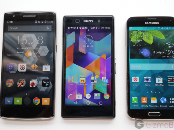 Galaxy S5 vs OnePlus One vs Xperia Z1 display quality