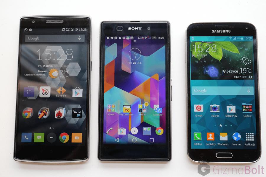 Galaxy S5 vs OnePlus One vs Xperia Z1 display quality