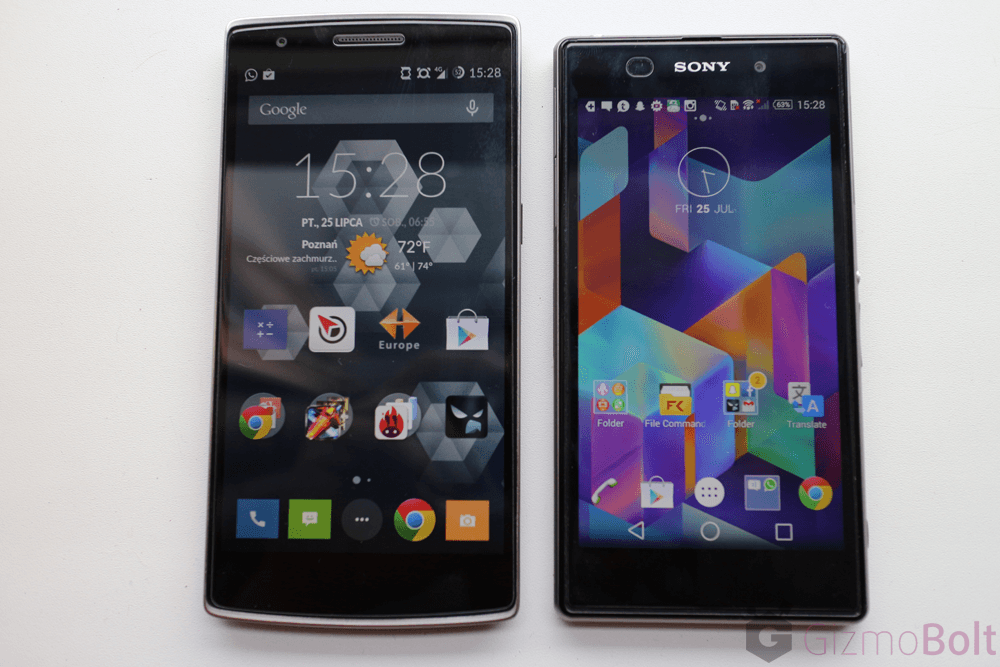 Galaxy S5 vs OnePlus One vs Xperia Z1 display
