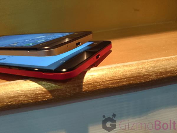Asus Zenfone 5 vs 6 size comparison