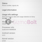 Xperia T2 Ultra Dual Android 4.4.3 19.1.1.C.0.56 firmware screenshot leaked