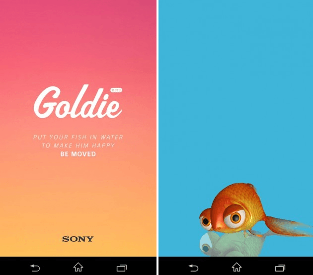 Download Sony Underwater app Goldie apk