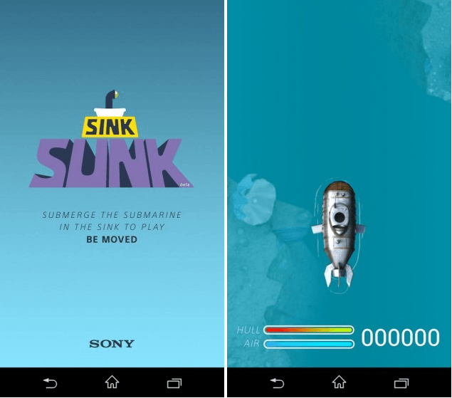 Download Sony Underwater app Sink Sunk apk