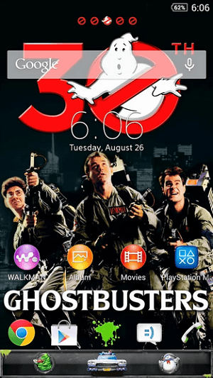 Download Xperia Ghostbusters theme