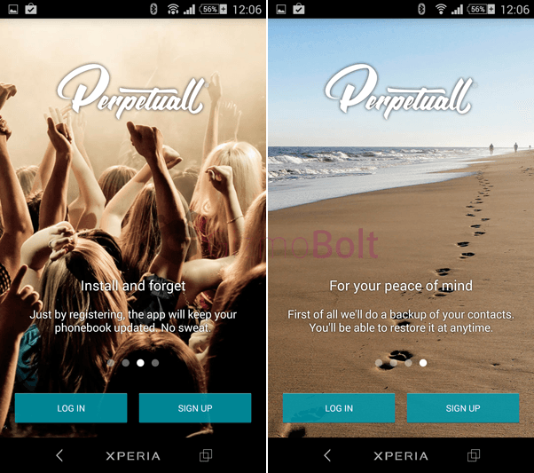 PERPETUALL contacts app review