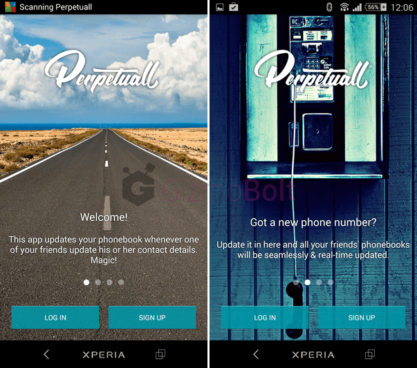 PERPETUALL contacts updated android app review