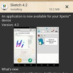 Sony Sketch 4.2 app 2.0.A.1.6 version update rolling out