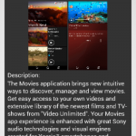 Sony Movies 7.2.A.0.4 app update rolling