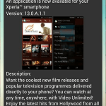 Sony Video Unlimited 13.0.A.11 app update rolling