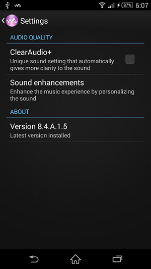 Walkman 8.4.A.1.5  apk