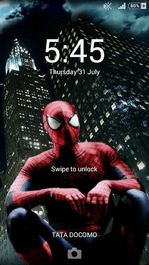 Xperia Enfriar Live Wallpaper Loskcreen effects
