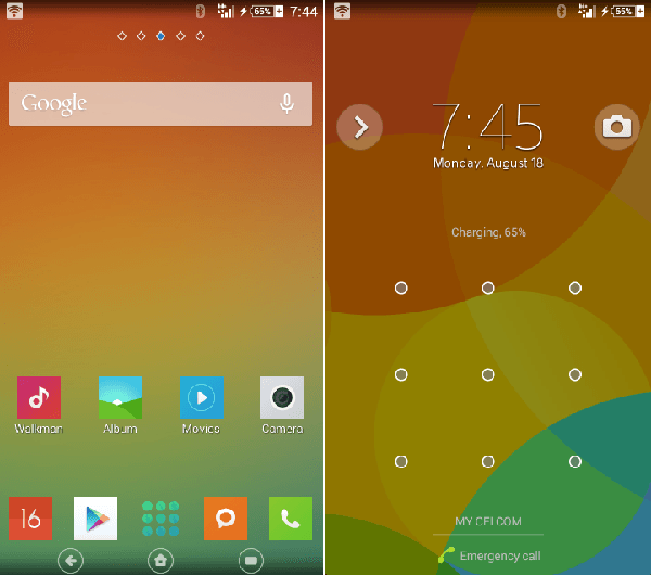 Xperia Pureness v4 with MIUI Theme