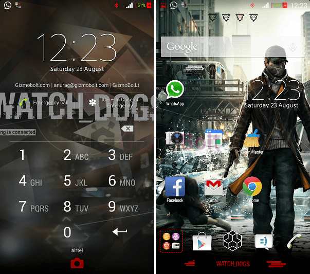Xperia Watch Dogs Theme apk
