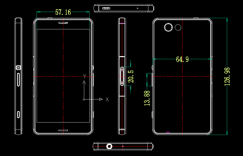 Xperia Z3 Compact Dimensions Leaked
