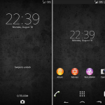Install eXperia Theme Blurry & Black for android 4.3+ devices