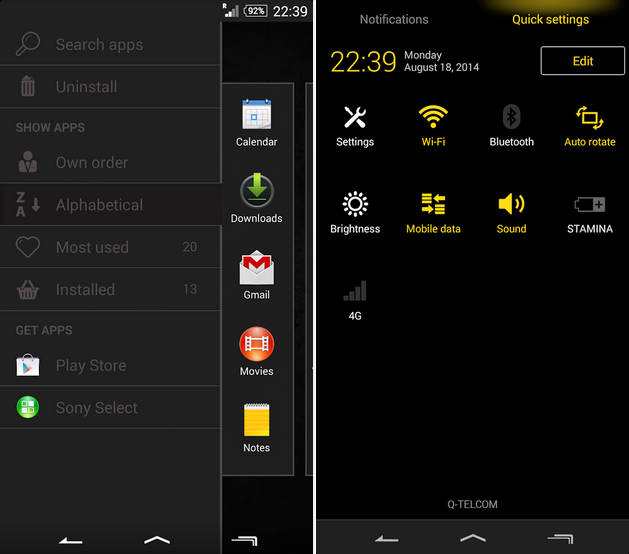eXperia Theme Black apk