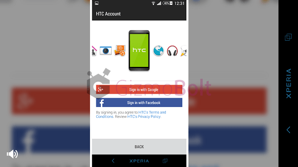 HTC Zoe Beta UI