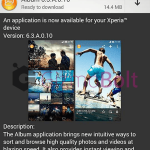 Sony Album 6.3.A.0.10 update rolling – Select all, Hide pictures option added