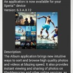 Sony Album 6.3.A.0.12 app update rolling