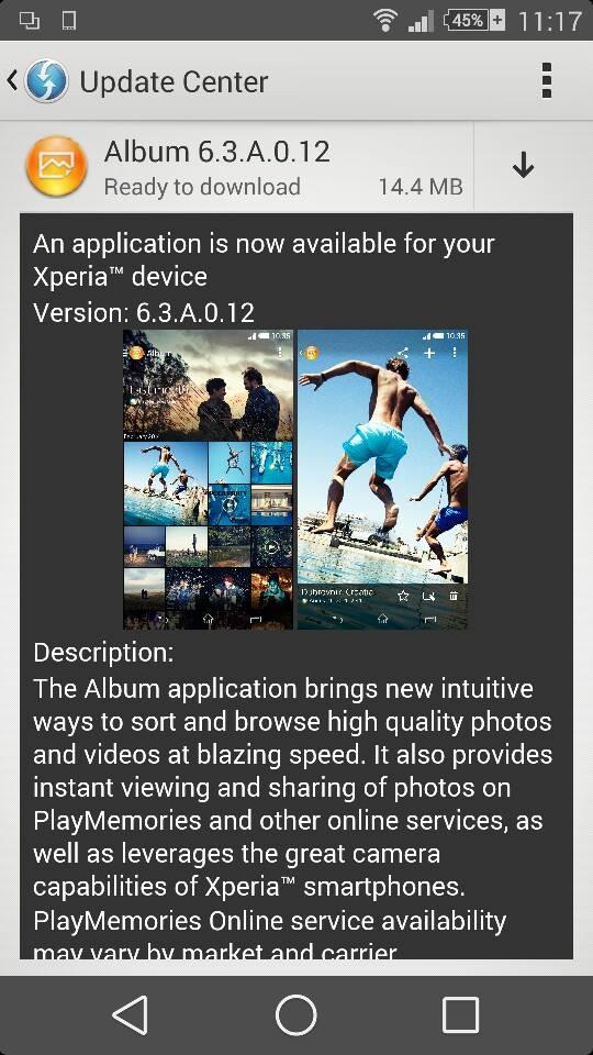 Album 6.3.A.0.12 app