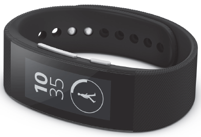 Black Sony SmartBand Talk SWR30 review