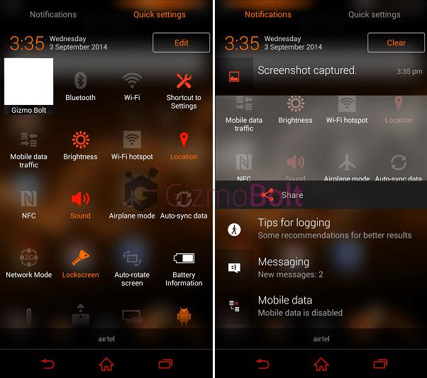 Download Burnt Orange Xperia Theme