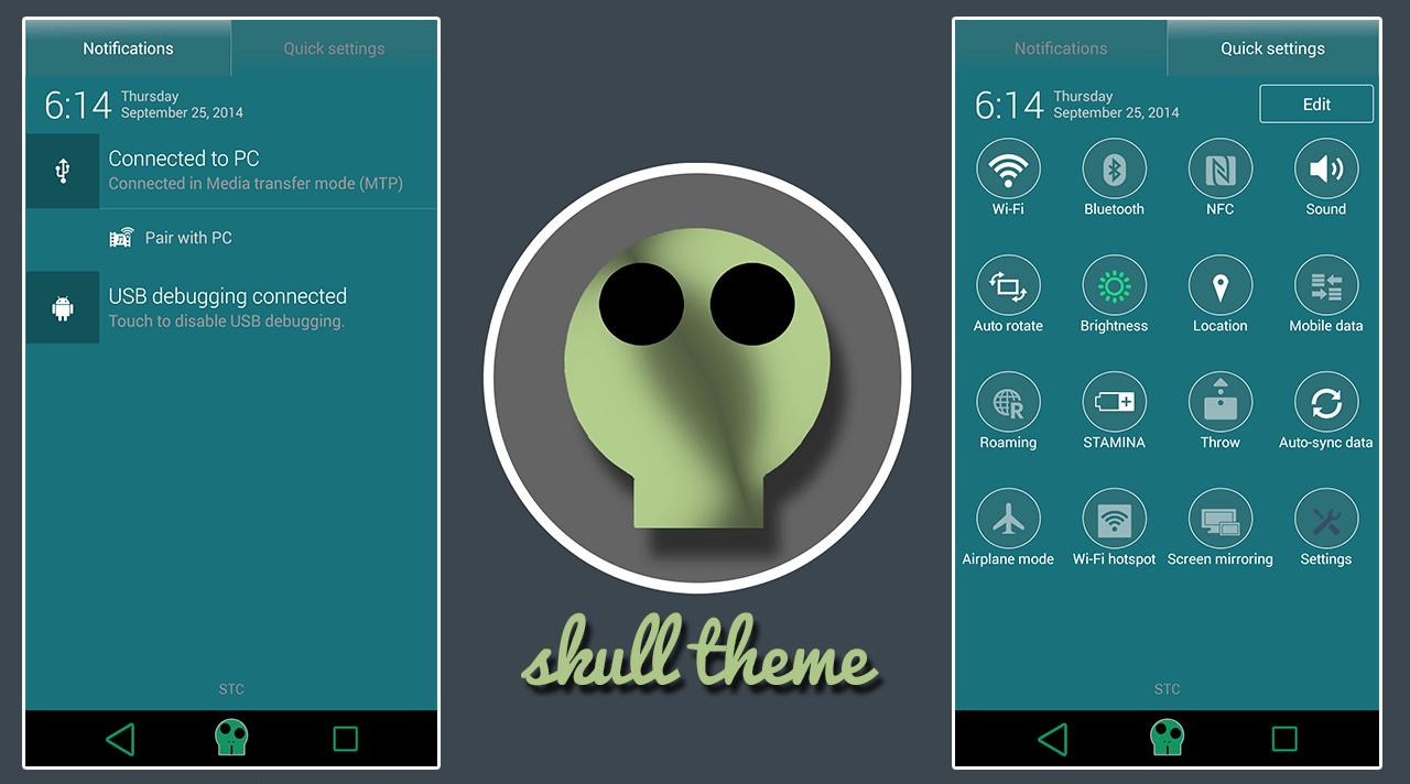 Download Xperia Skull Theme