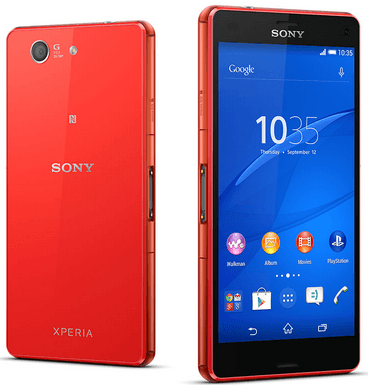 Red Xperia Z3 Compact