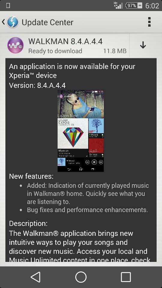 Walkman 8.4.A.4.4 app