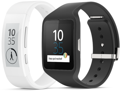 White Sony SmartBand Talk SWR30