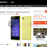 Xperia E3 for Rs 11990, E3 Dual for Rs 12990 launched in India