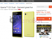 Xperia E3 for Rs 12990 Price India