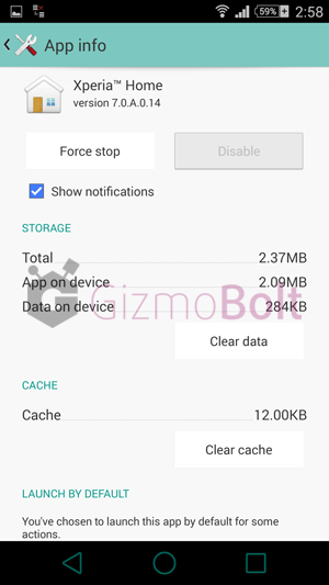 Xperia Z3 Home 7.0.A.0.14 launcher