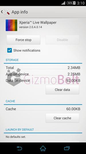 Xperia Z3 Live Wallpaper 2.0.A.0.14