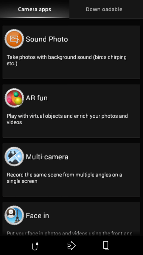 Xperia Z3 Multi Camera app