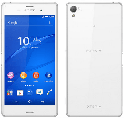Xperia Z3 white video