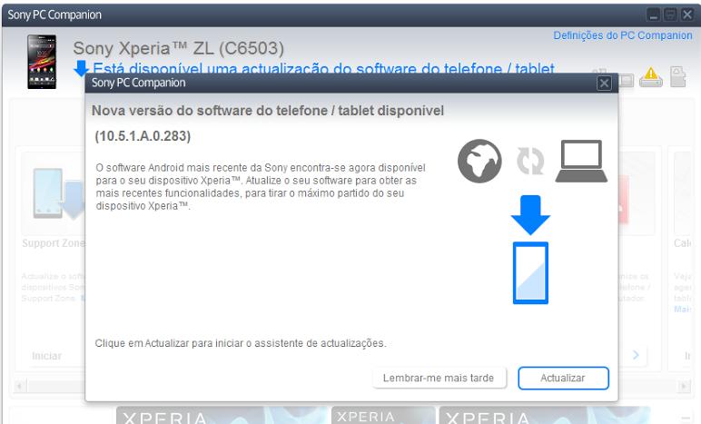 Xperia ZL 10.5.1.A.0.283 firmware update